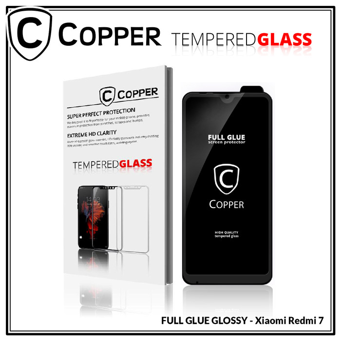 harga Xiaomi redmi 7 - copper tempered glass full glue premium Tokopedia.com