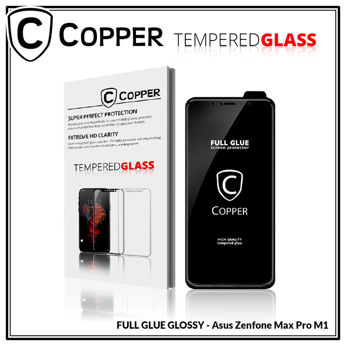 Foto Produk Zenfone Max Pro M1 - COPPER Tempered Glass Full Glue PREMIUM Glossy dari Copper Indonesia