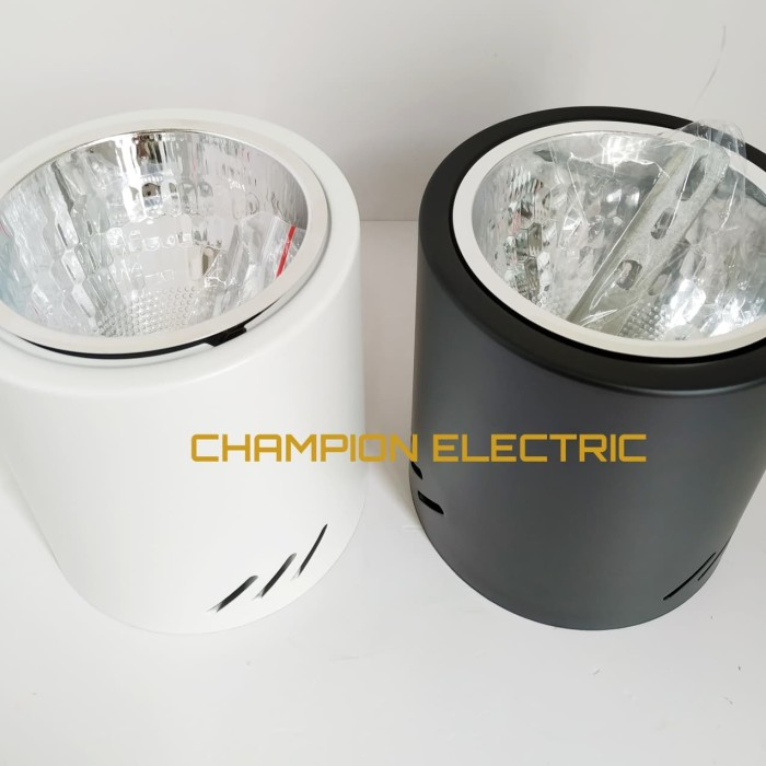 Foto Produk Kap Rumah Lampu Downlight Outbow Bulat E27 4 inch TOP Quality - Hitam dari Champion Electric