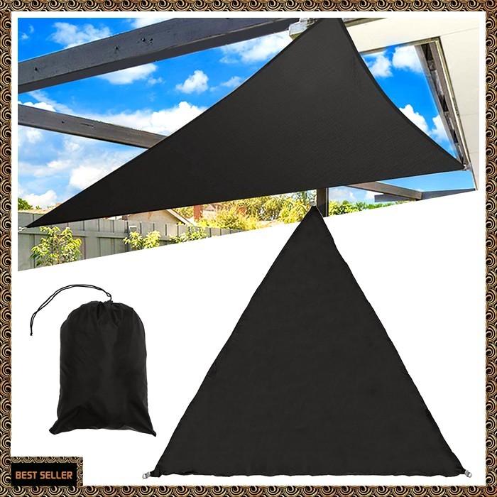 3x3x3m Triangles Waterproof Sunshade Sails Net for Garden Yard Beach Camp Tent