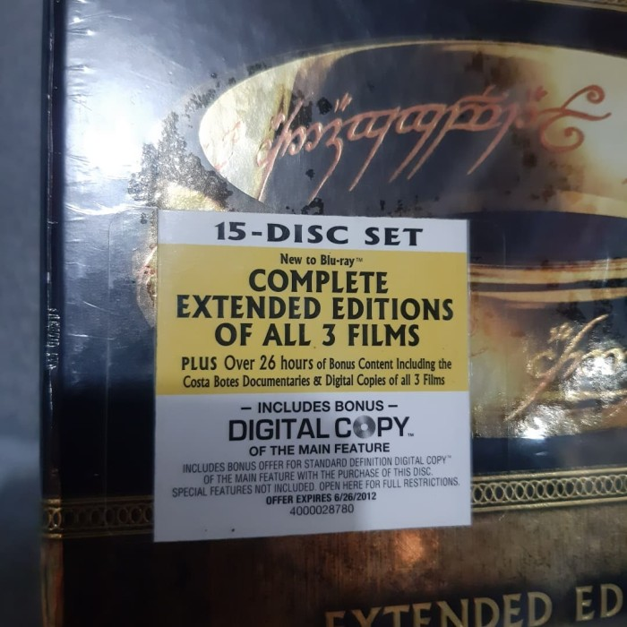 Jual Bluray The Lord Of The Rings Extended Limited edition - Kota Bandung -  ToNy-NuNoS Shop | Tokopedia