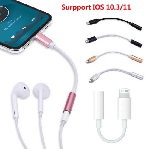 Foto Produk Lightning To 3.5mm Aux Headphone Jack Audio Adapter IPhone New dari violetshop9898