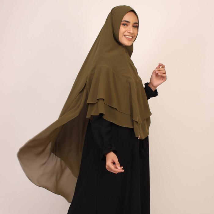 Jilbab Bergo Maryam Warna Army Style Gamis