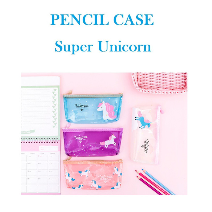 Foto Produk TP0023 Tempat pensil Super Unicorn / Tempat Kosmetik - Putih dari EnnWen Online Store