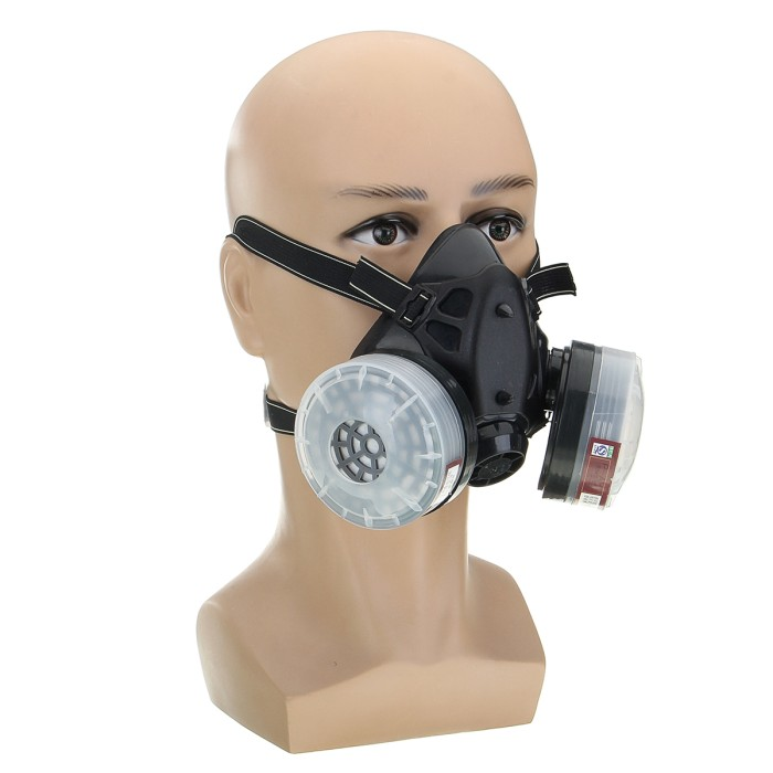 Spray Paint Mask >> Jual Ht2 4 In 1 Half Face Gas Mask Spray Painting Dust N95 Mist Fume Dki Jakarta Hot Case Tokopedia