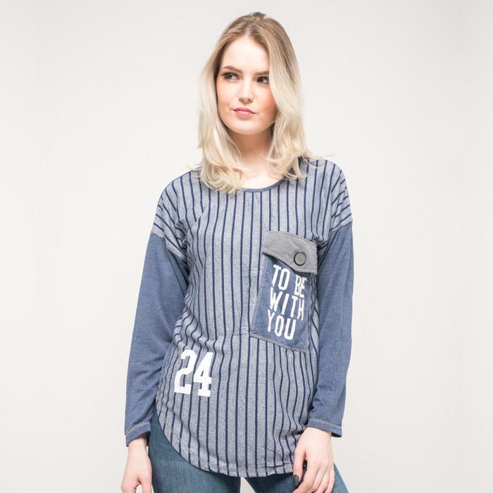 harga Seyes 9270 tumblr tee t-shirt atasan wanita kaos cewe lengan panjang - navy Tokopedia.com
