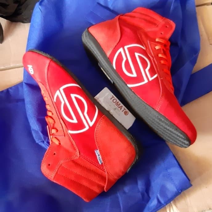 harga Sepatu balap merah polos Tokopedia.com