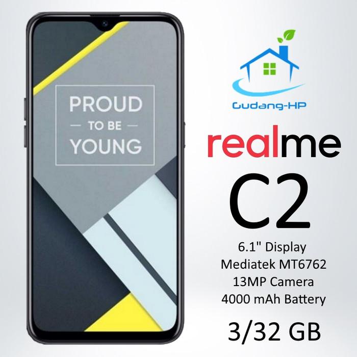 harga Realme c2 3/32 gb garansi resmi 1 tahun - hitam Tokopedia.com