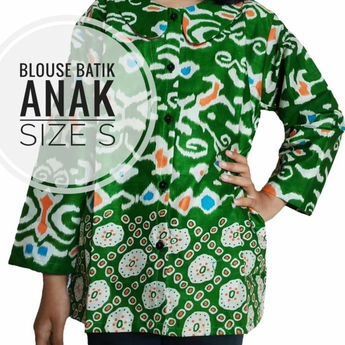 harga Blouse batik anak size s blus kemeja anak perempuan lengan panjang Tokopedia.com