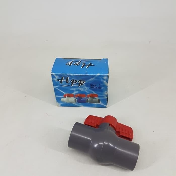 Jual sambungan pipa buka tutup 1/2 - ball valve pvc 1/2