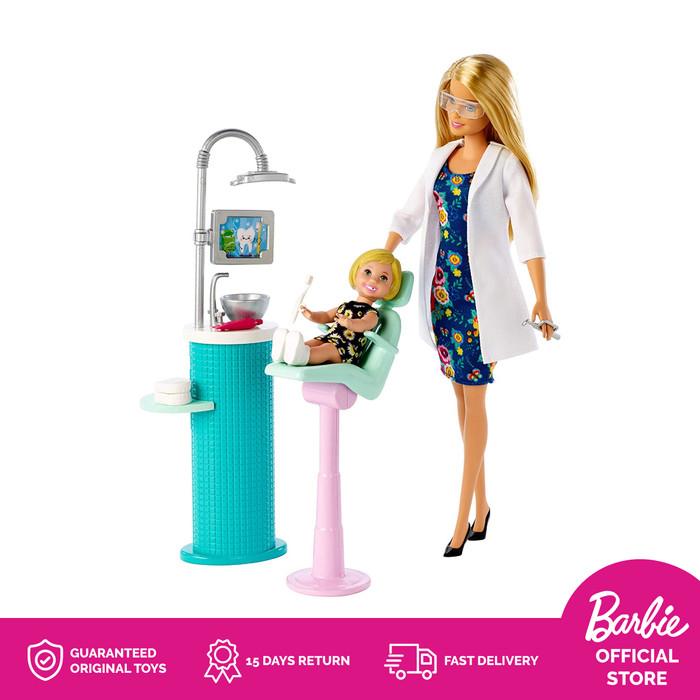 harga Barbie dentist doll & playset boneka mainan anak perempuan blonde Tokopedia.com