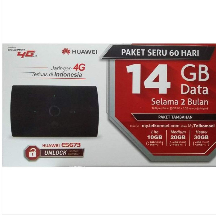 harga Mifi modem wifi router 4g unlock huawei e5673 free telkomsel kuota14gb Tokopedia.com