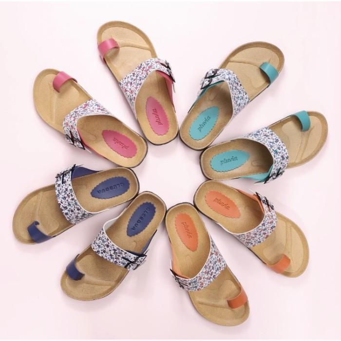 Foto Produk BnG Corner - FLORIDA Sandal Jepit Footbed Wanita LO41 - Orange Pink Na dari artatikashop