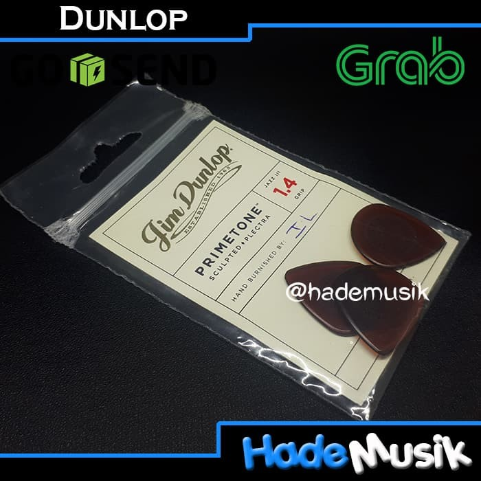 harga [pack] dunlop pick primetone jazz iii sculpted plectra 1.14 Tokopedia.com
