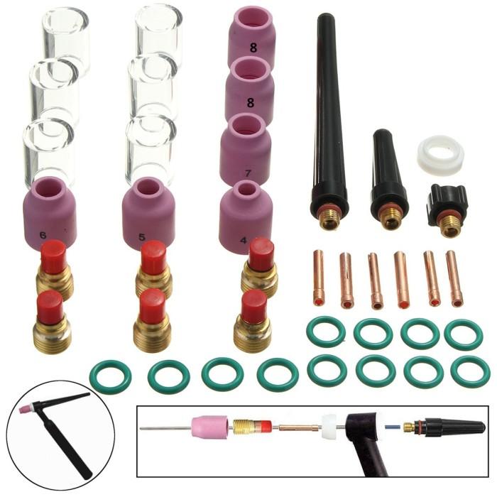 10-pk TIG Welding Gas Lens Ceramic Cup 53N58-53N61S #4-#8 Torch 9//20US Seller