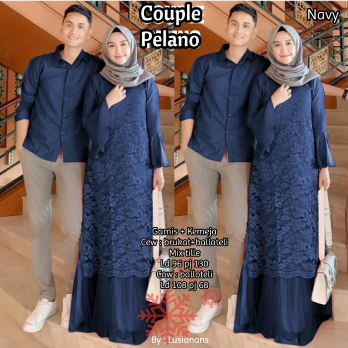 100 Gambar Baju Gamis Couple Surabaya Kekinian