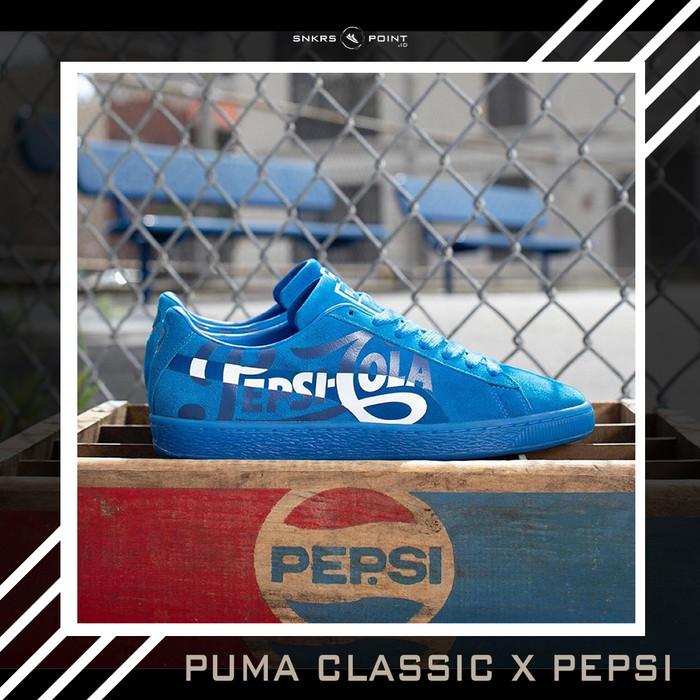 "buy online e292f 35721 Jual PUMA SUEDE CLASSIC X PEPSI ""CLEAN BLUE"" - - Kota Depok - SNKRS POINT  ID | Tokopedia"