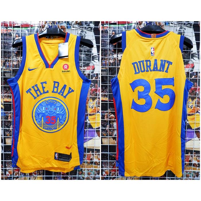 online store 1eb3c 3f0ec Jual JERSEY NBA THE BAY #35 DURANT CITY EDITION KUNING 2 17-18 - Kota Batam  - Kwek.Nelsonshop | Tokopedia