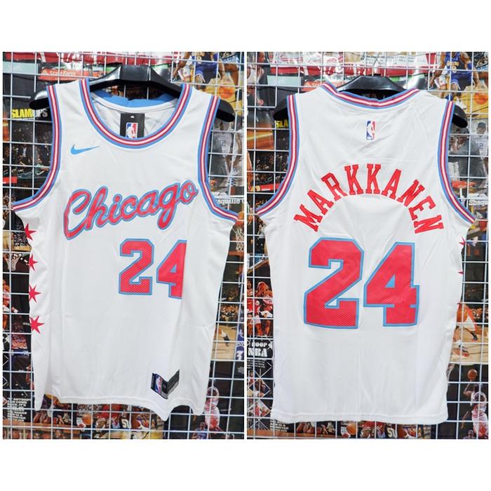 size 40 ea425 0bf7c Jual JERSEY NBA CHICAGO #24 MARKKANEN CITY EDITION PUTIH 18-19 - Kota Batam  - Kwek.Nelsonshop   Tokopedia
