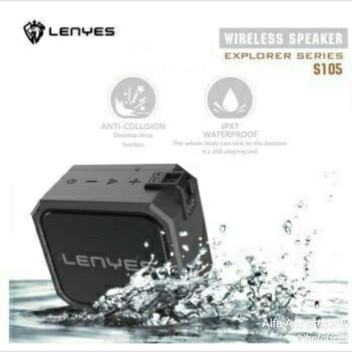 Foto Produk Speaker Bluetooth LENYES Outdoor Portable Waterproof Antifall S-105 dari razoqycom