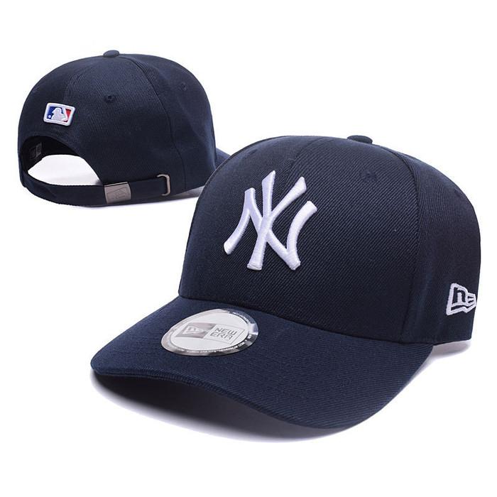 02b4f0c23 Jual Topi caps NY New york yankees full black import - Hitam Hitam ...