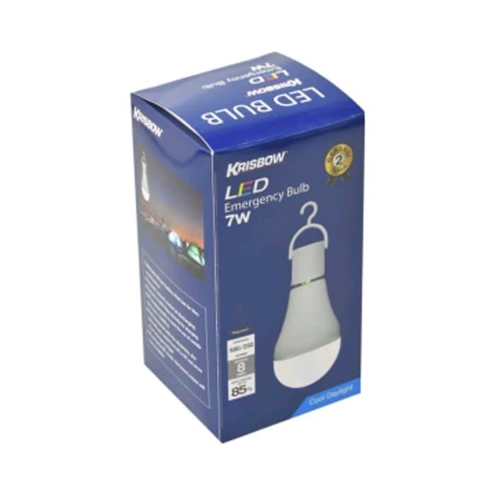 Foto Produk Krisbow Bohlam Led Darurat 7w Cool Daylight - Emergency Lamp dari Tokonya Niken