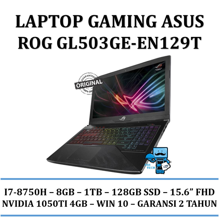 harga Laptop asus rog strix gl503ge en129t i7 8750h/8gb/gtx1050ti 4gb/win10 Tokopedia.com
