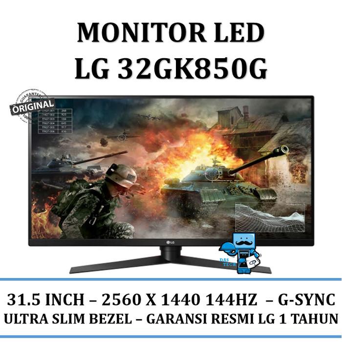 "harga Monitor led lg 32gk850g 32"" qhd with 144hz refresh rate g-sync Tokopedia.com"