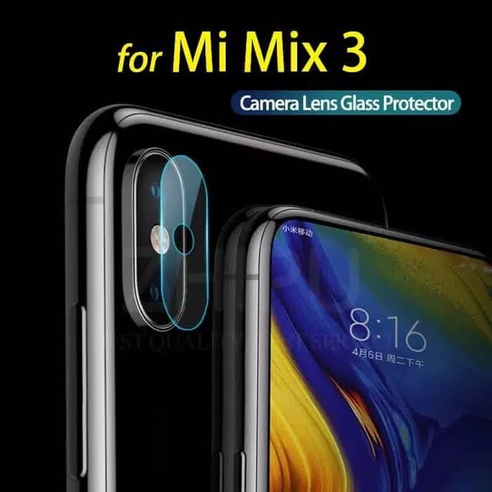 Foto Produk Xiaomi Mi Mix 3 Mi Mix3 - Camera Lens Clear Soft Tempered Glass dari Bro Papao