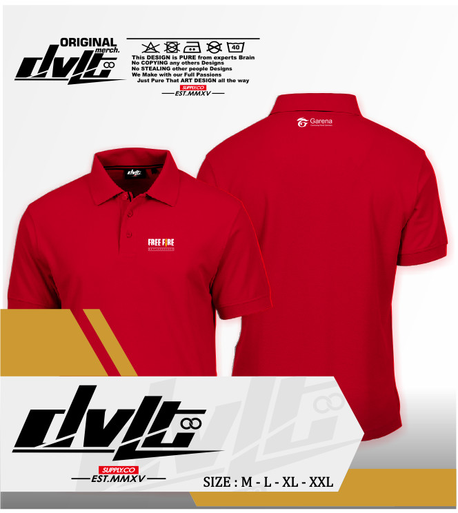 Jual Poloshirt / Kaos Polo Game Free Fire Logo Murah -ma product - Kota  Banjar - MA Productions | Tokopedia