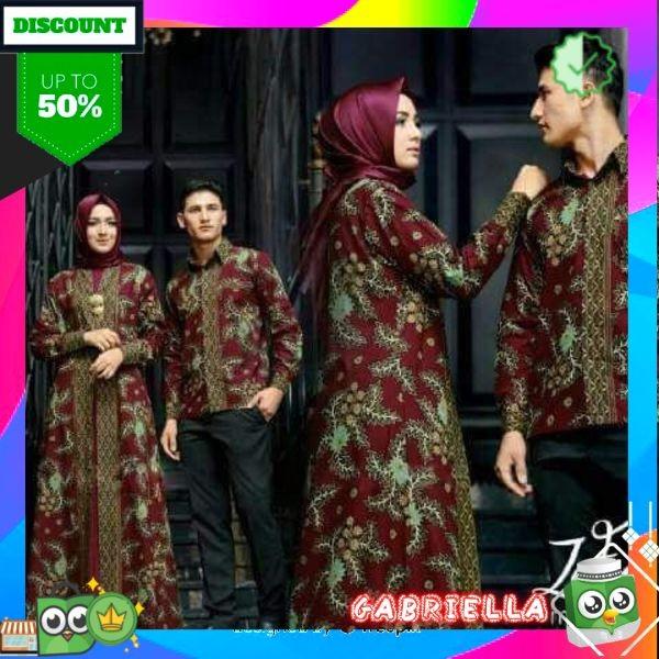 Jual Pakaian Muslim Wanita Model Gamis Couple Batik Couple Zafir Casual Jakarta Pusat Gabriella16 Tokopedia