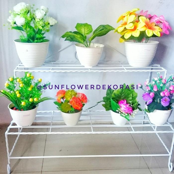 Jual Rak Bunga Besi Kuning Kab Probolinggo Sunflower Dekorasi Tokopedia