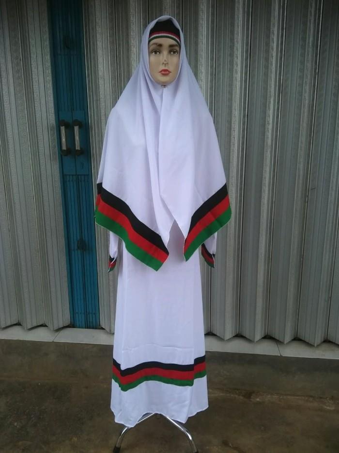 Jual Unik Gamis Palestina Putih Plus Khimar Putih Murah Kota Bandung Lufi Toko Tokopedia