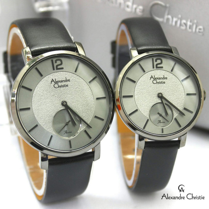 harga Jam tangan couple alexandre christie original leather kulit black Tokopedia.com
