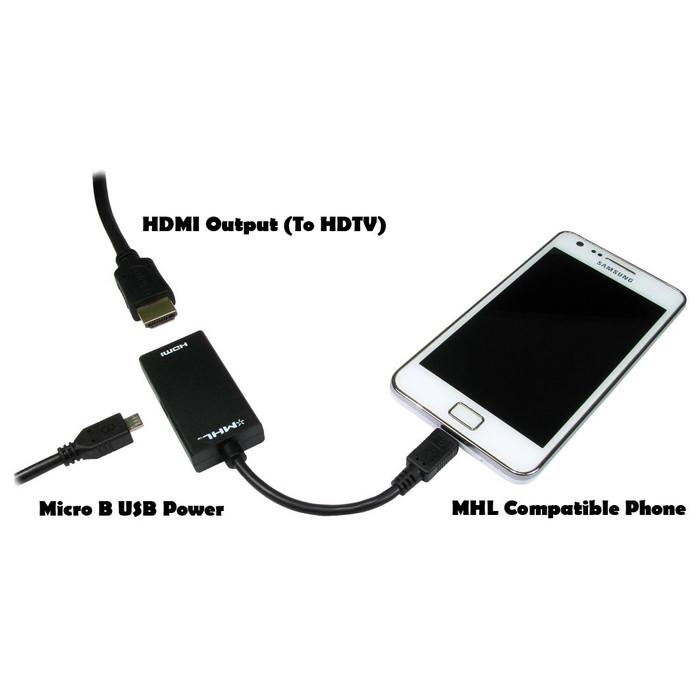 Jual Kabel MHL Converter Micro USB to HDMI Kabel for HP Android ke TV HDMI  - Jakarta Timur - Oktha Store | Tokopedia