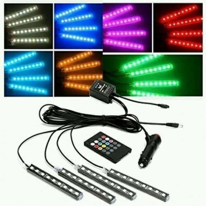 harga Lampu led kolong rgb + remote mobil with sensor music dashboard 16 war Tokopedia.com