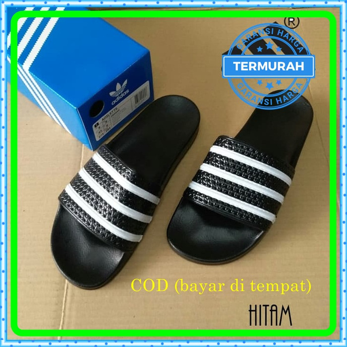 430634f42 Sandal Adidas Adilette Original Sendal Adidas Adilette Stripes BNIB -  Hitam, 7