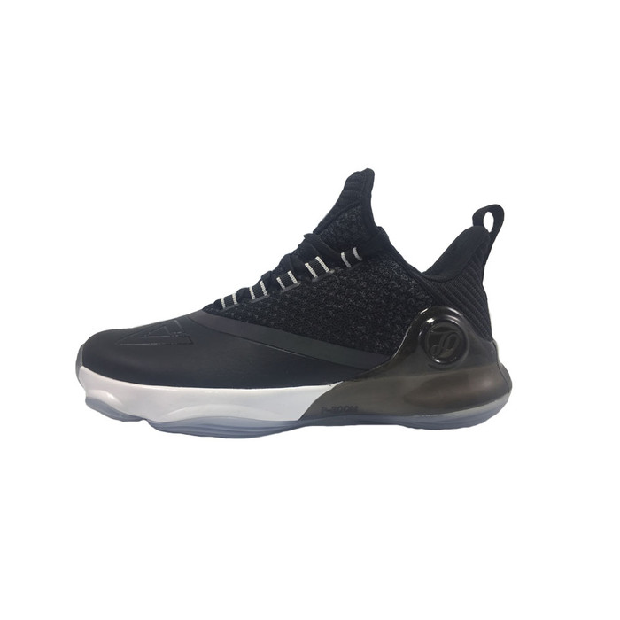 Peak Sepatu Basket Peak Tony Parker Vi Black Dan White Ltgrey - E83323a - Black 40