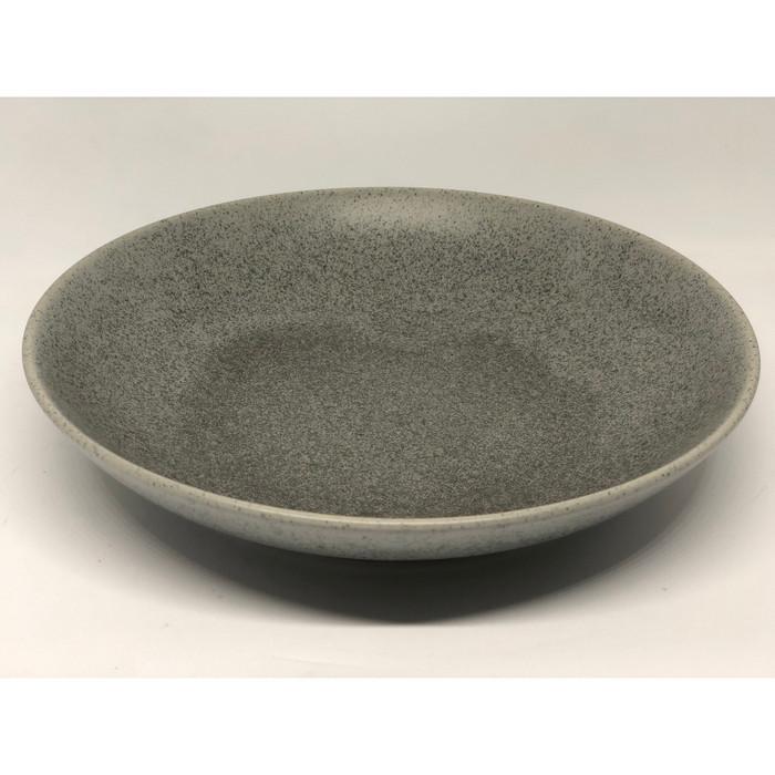 Foto Produk Mangkok Pasta Cafe - Pasta Bowl Stone Grey dari Sinar Sakti Online