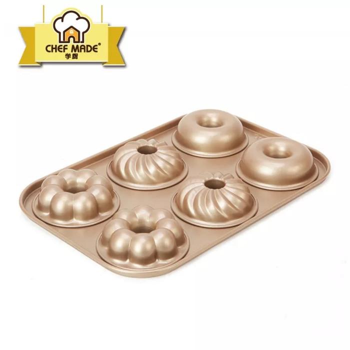 harga 6cup non stick donut pan chefmade Tokopedia.com