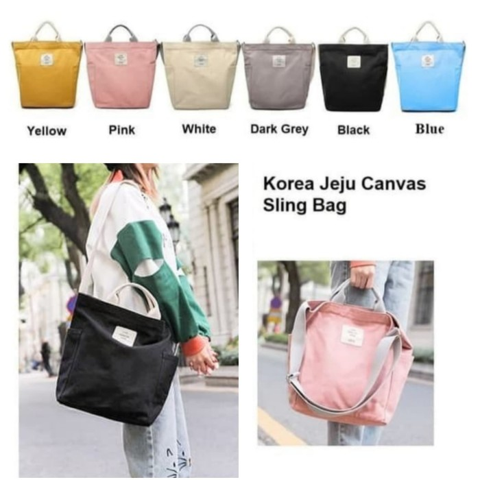 Cek Harga Tas Slempang Selempang Anti Air Kanvas SPEN USB Sling Source · Korea Jeju Travel Canvas SlingBag Tas Selempang Wanita