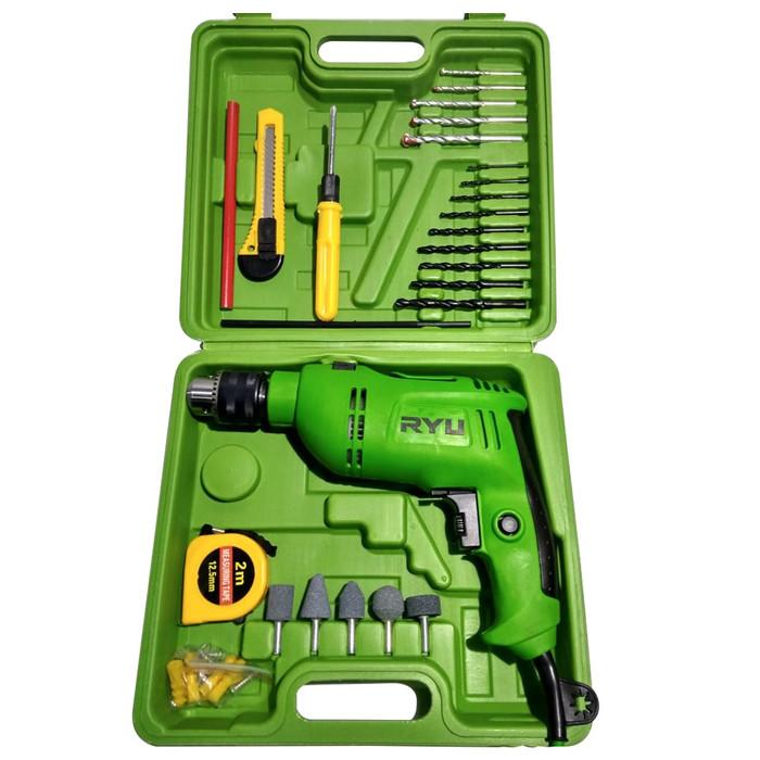 harga Impact drill 13 mm set 27 pcs - mesin bor set ryu 13 mm Tokopedia.com