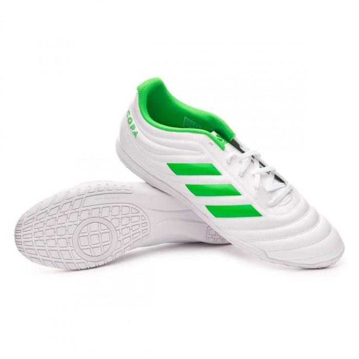 Jual Sepatu Futsal Adidas Copa 19 4 In White Green Original
