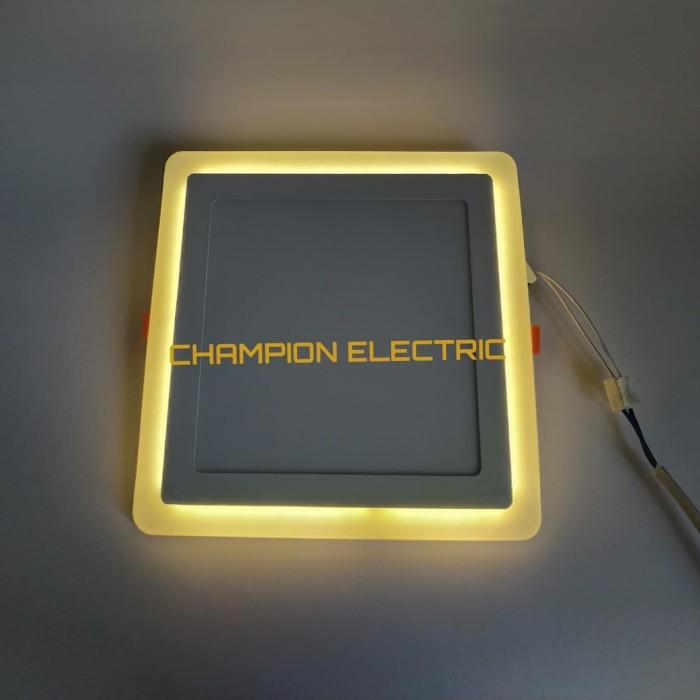 Foto Produk Lampu Downlight LED Panel 2 Warna Cahaya 18W+6 Watt KOTAK - Putih-Biru dari Champion Electric