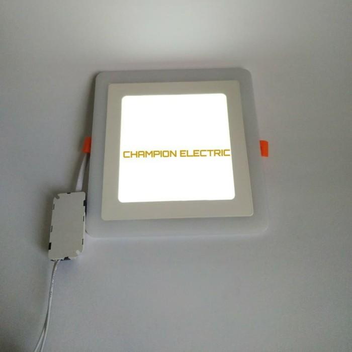 Foto Produk Lampu Downlight LED Panel 2 Warna Cahaya 12W+4 Watt KOTAK dari Champion Electric