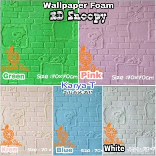 Jual Wallpaper 3d Foam Stiker Murah Batu Bata Empuk Gambar Snoopy
