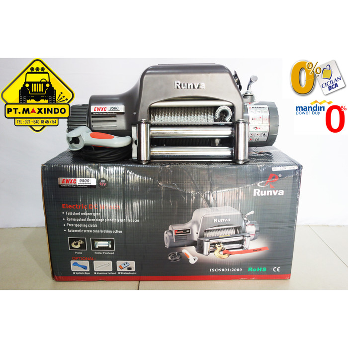 harga Runva electric winch ewxc-9500 (43 ton) high speed gear ratio 130:1 Tokopedia.com