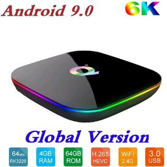 Jual Q PLUS Android TV Box OS 9 0 PIe RAM 4G ROM 64G CPU H6 A53 Cortex BT   - DKI Jakarta - occa sTORE 2019 | Tokopedia