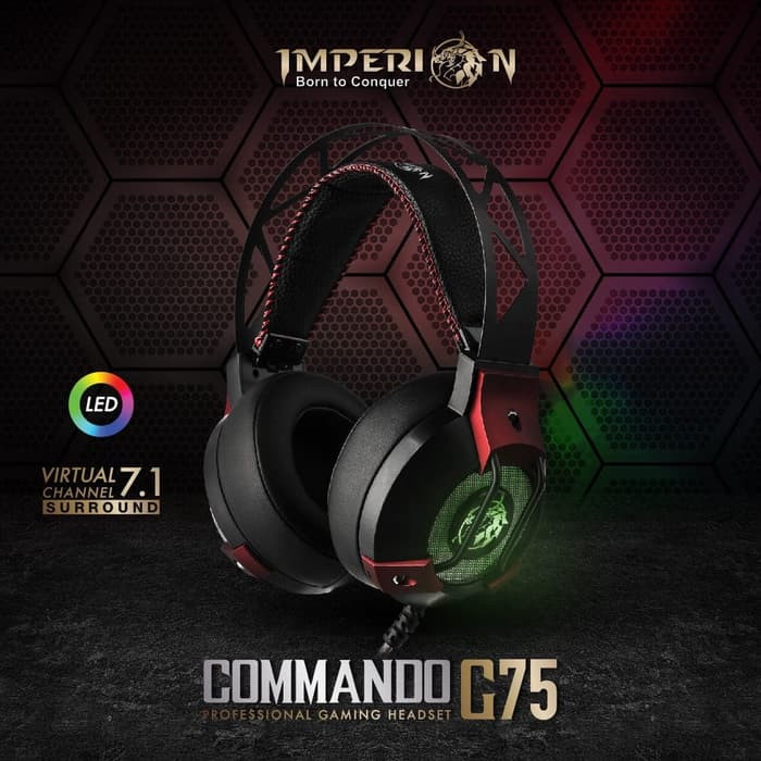 Jual Imperion Commando G75 Professional Gaming Headset Virtual Channel 7 1  - Jakarta Pusat - HargaMurah-COM   Tokopedia