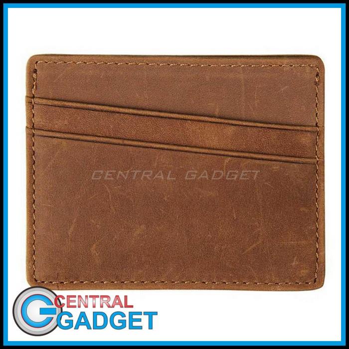 Dompet Kartu Bahan Kulit Anti RFID